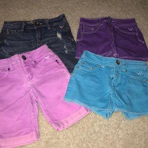 Justice Jean colored shorts bundle
